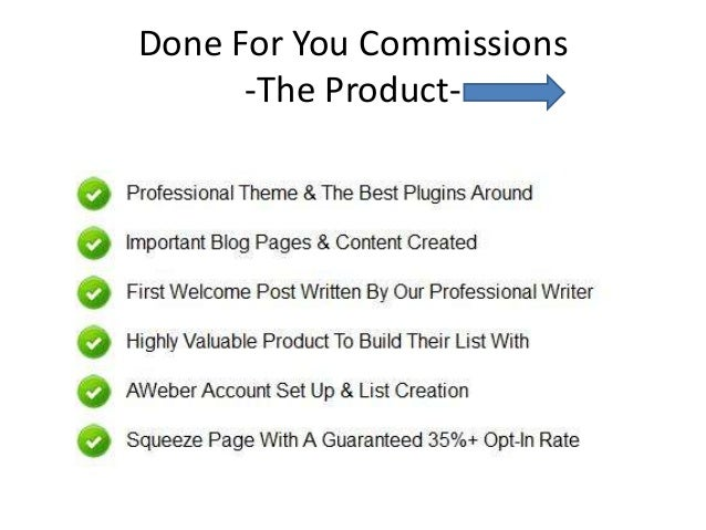 Done for you commissions   james francis - product overview Slide 3