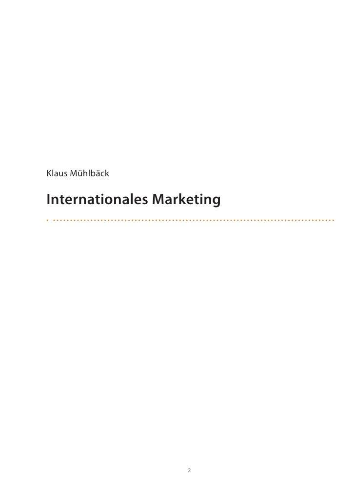 Input: Internationales Marketing Slide 2