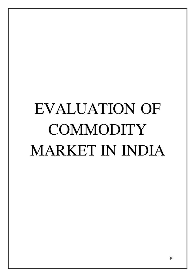 What is a commodity market?