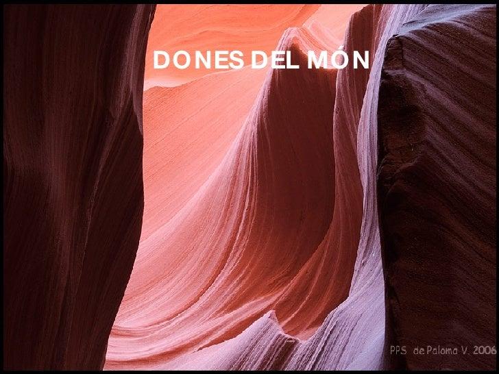 DONES DEL MÓN