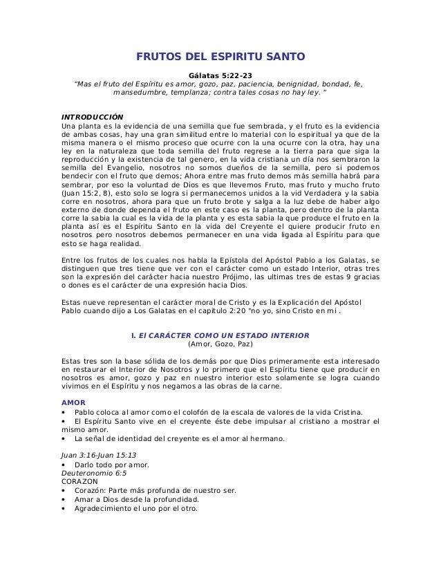 Dones Frutos Y Ministerios Del Espiritu Santo Nestor