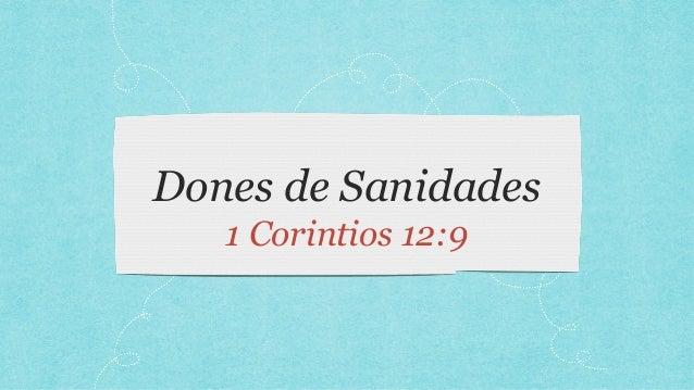 Dones de Sanidades 1 Corintios 12:9