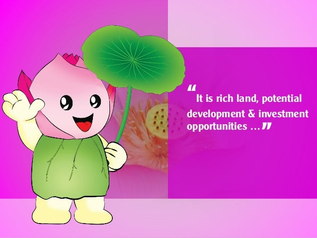 """""""It is rich land, potential development & investment opportunities … """""""