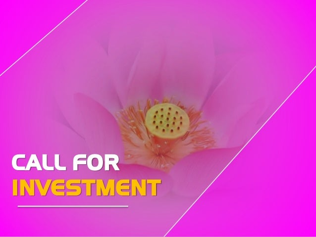 CALL FOR INVESTMENT
