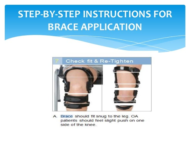 how to put on donjoy acl brace