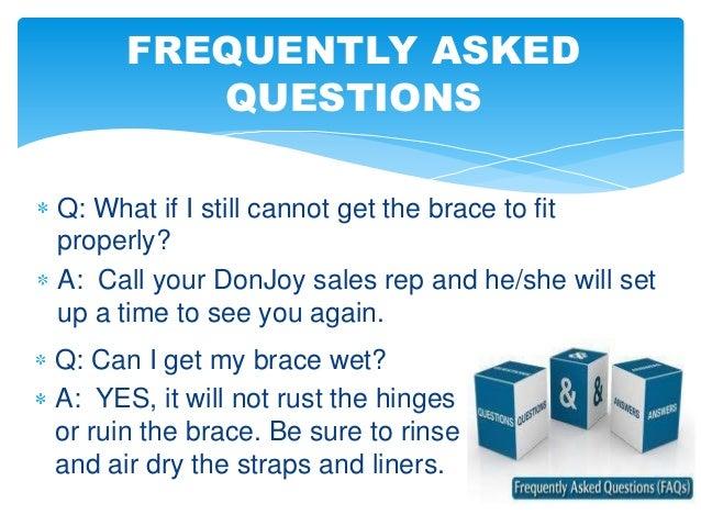 donjoy knee brace fitting instructions
