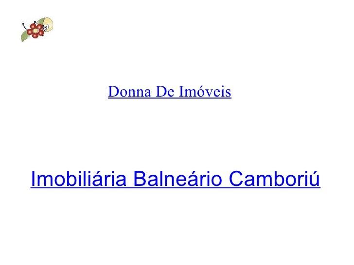 Donna De Imóveis Imobiliária Balneário Camboriú