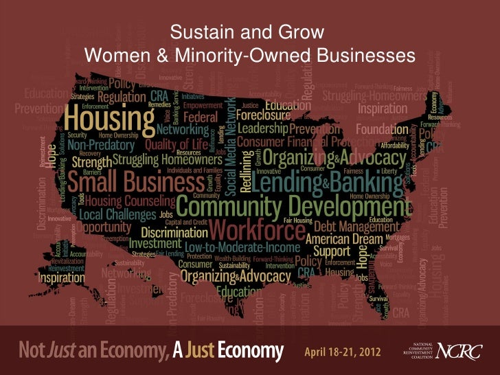 Sustain and GrowWomen & Minority-Owned Businesses