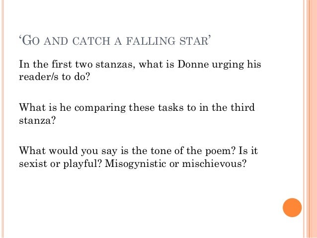go and catch a falling star explanation