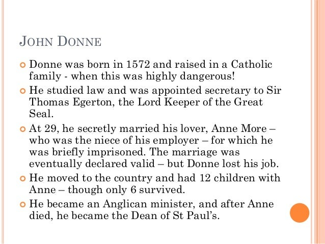 analysis of john donnes the flea John donne: the sacramentality of sex john donne, a metaphysical poet donne wittingly uses the flea as representation of a temple to allude to a deeper.