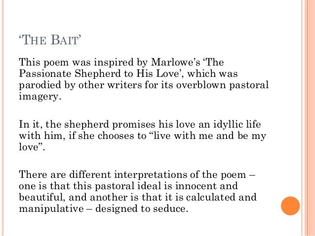the passionate shepherd poems essay example The poem under review in this paper is the passionate shepherd to his love,  which is a composition by christopher marlowe it uses a.