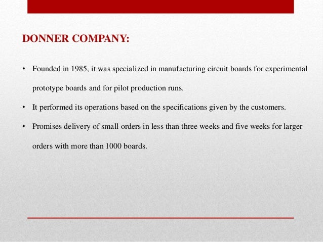 donner company case study