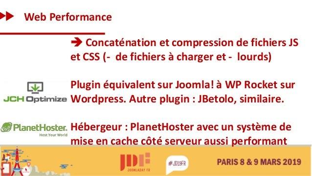 Web Performance ➔ Concaténation et compression de fichiers JS et CSS (- de fichiers à charger et - lourds) Plugin équivale...
