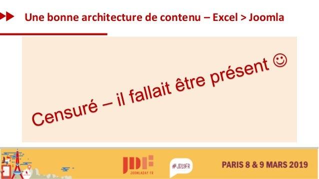 Une bonne architecture de contenu – Excel > Joomla