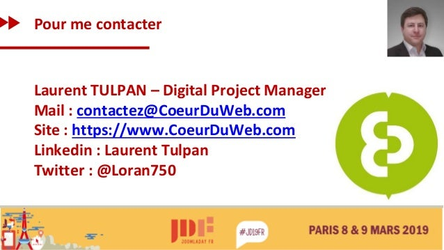 Pour me contacter Laurent TULPAN – Digital Project Manager Mail : contactez@CoeurDuWeb.com Site : https://www.CoeurDuWeb.c...