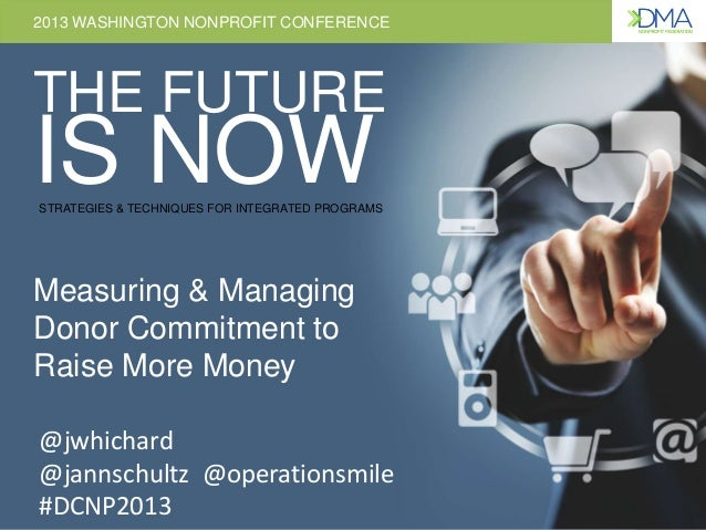 2013 WASHINGTON NONPROFIT CONFERENCE THE FUTURE IS NOWSTRATEGIES & TECHNIQUES FOR INTEGRATED PROGRAMS 2013 WASHINGTON NONP...