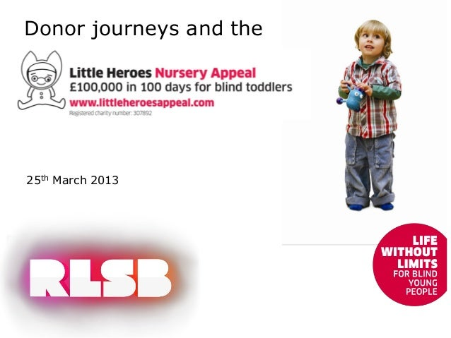 Donor journeys and the25th March 2013