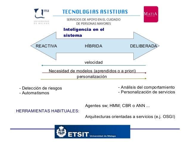 Inteligencia en el sistema REACTIVA HÍBRIDA DELIBERADA - Detección de riesgos - Automatismos - Análisis del comportamiento...