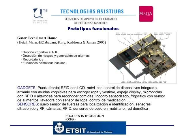 Prototipos funcionales Gator Tech Smart House (Helal, Mann, ElZabadani, King, Kaddoura & Jansen 2005) FOCO EN INTEGRACIÓN ...