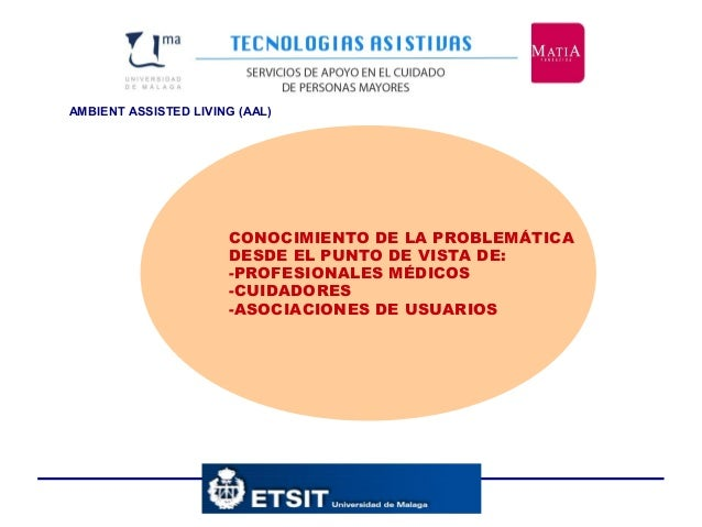AMBIENT ASSISTED LIVING (AAL) CONOCIMIENTO DE LA PROBLEMÁTICA DESDE EL PUNTO DE VISTA DE: -PROFESIONALES MÉDICOS -CUIDADOR...