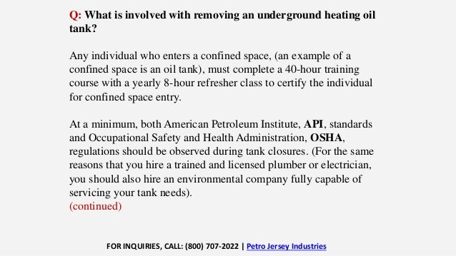 Don't Let An Underground Storage Tank Become a Costly Problem