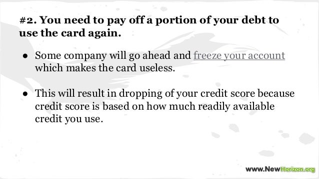 credit card companies should not be Negotiating on credit card debt while credit card companies encourage you to call them if you anticipate having problems repaying your debt.