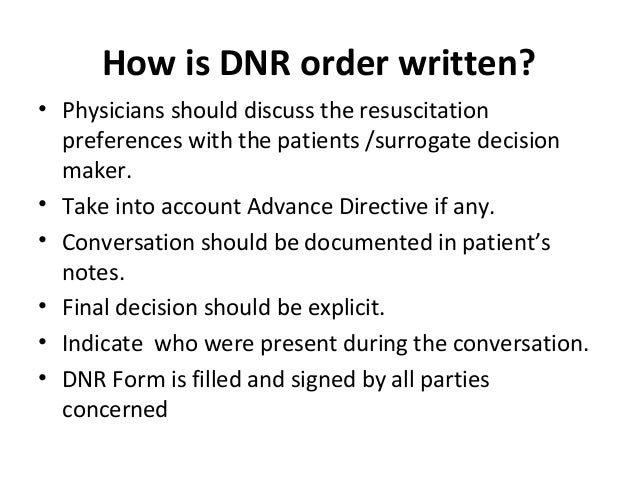 Dnr Medical Form. Do Not Resuscitate 22 Do Not Resuscitate Orders