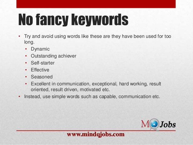 mindqjobs com what not to write in a resume