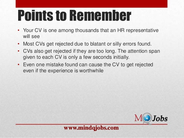 Mindqjobs.com : What not to write in a resume?