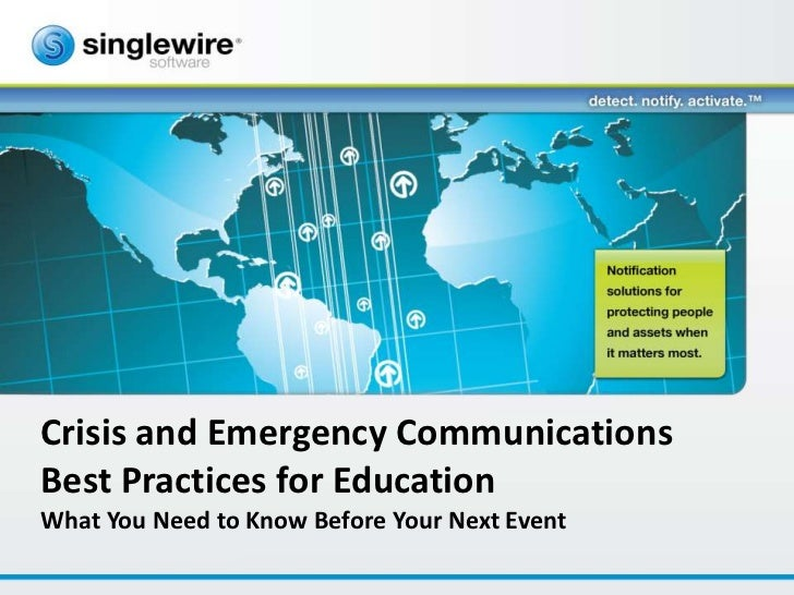 Crisis and Emergency CommunicationsBest Practices for EducationWhat You Need to Know Before Your Next Event