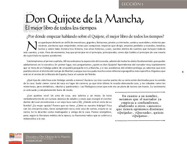 Curso Descubre a Don Quijote de la Mancha, capítulos 1 al