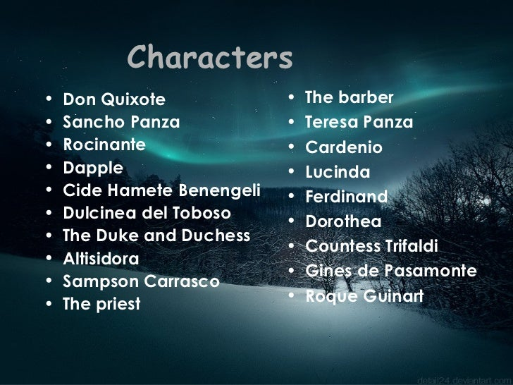 characters from don quixote