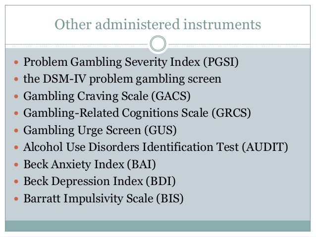 Gambling related cognitions used casino chairs