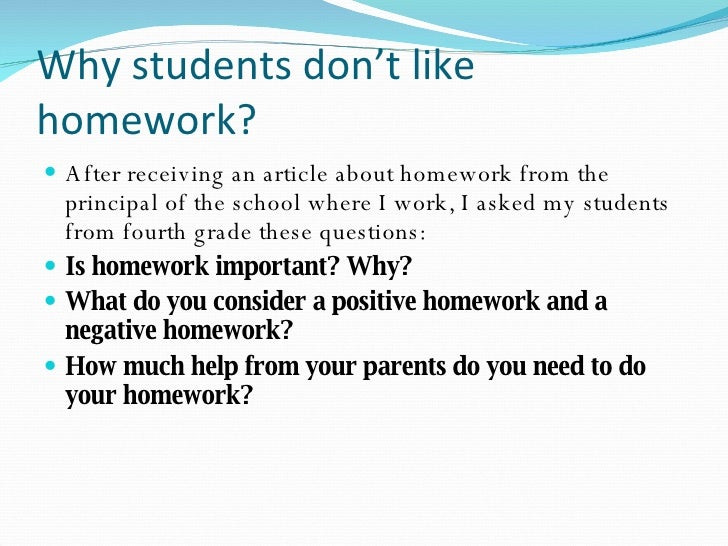 why homework helps for tests