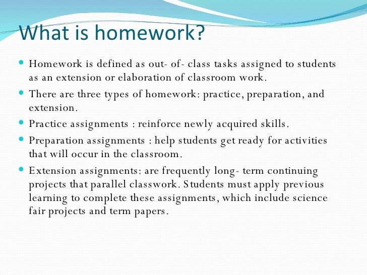 Homework are