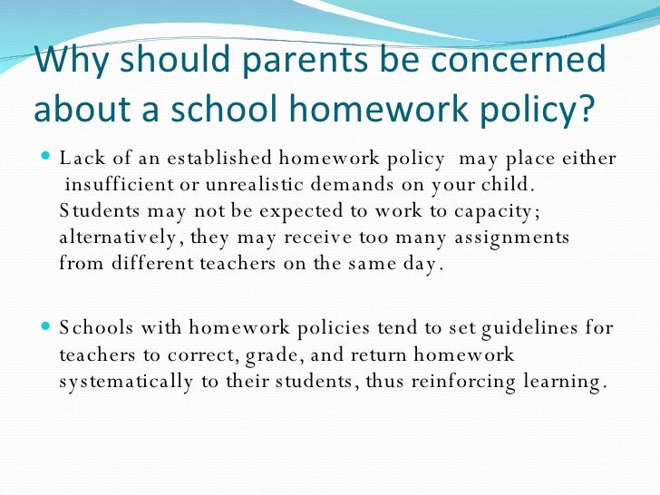 Dont Bother Your Students Give Them Homework