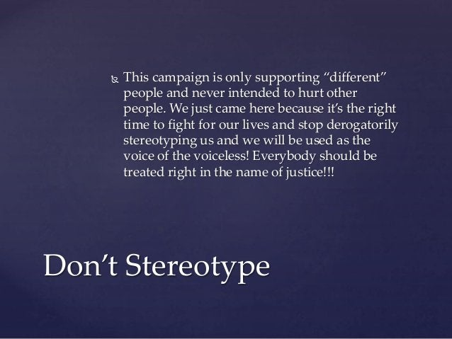 """ This campaign is only supporting """"different"""" people and never intended to hurt other people. We just came here because i..."""