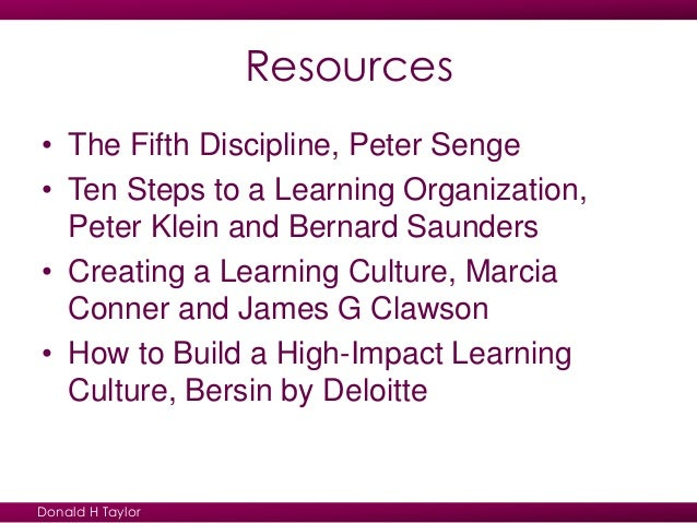 the fifth discipline essay A study based on senge model print 23 the fifth discipline: if you are the original writer of this essay and no longer wish to have the essay published.