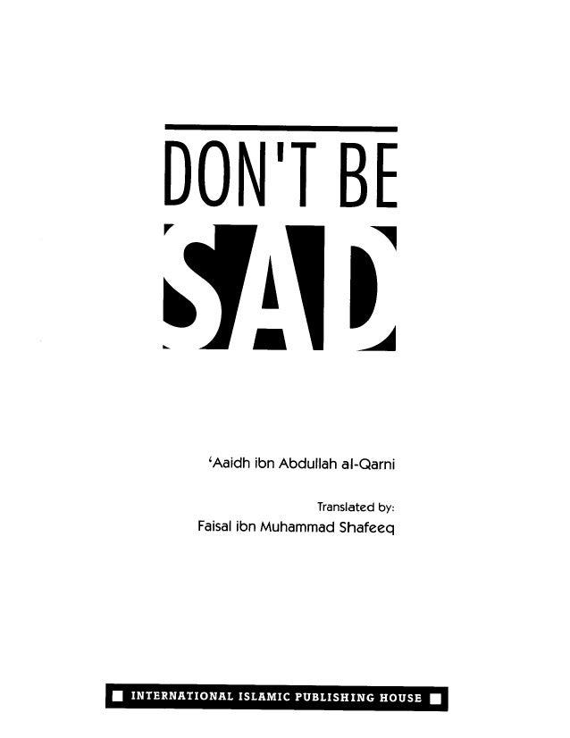 Dont Be Sad La Tahzan