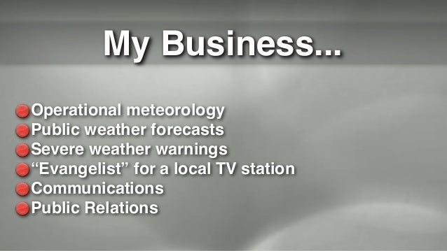 Don't Be Scared, Be Prepared, by James Spann
