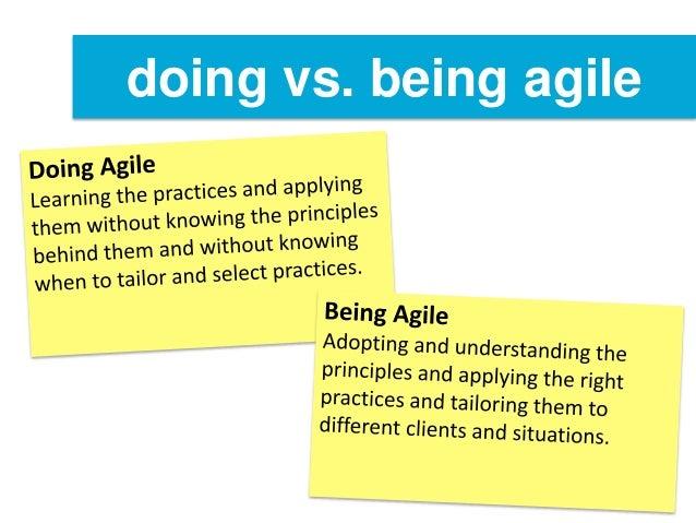 Don 39 t do agile be agile for Agile vs agile