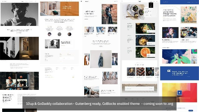 10up & GoDaddy collaboration - Gutenberg ready, CoBlocks enabled theme - coming soon to .org