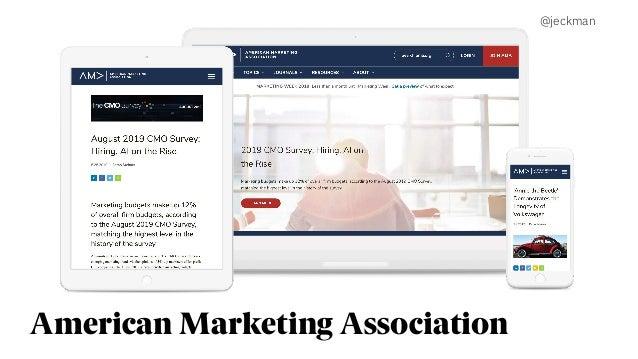 American Marketing Association @jeckman