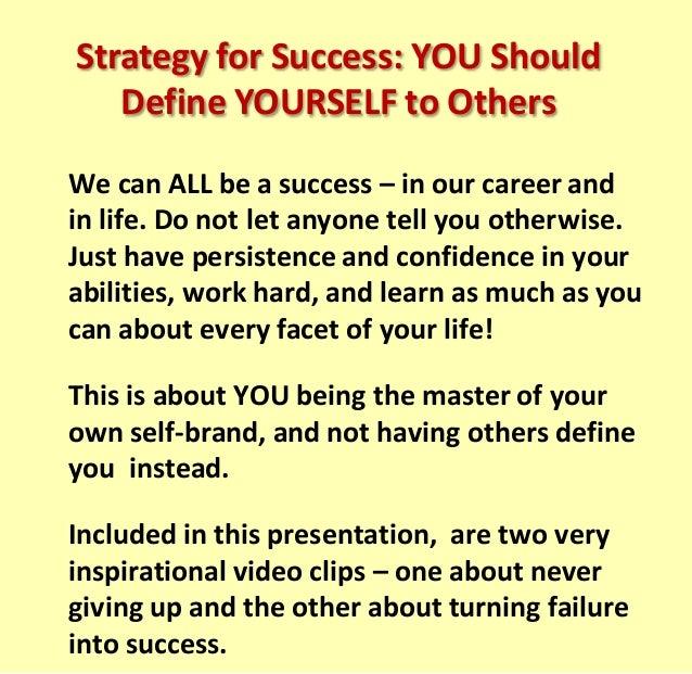 define success in your career
