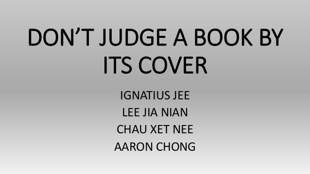 Dont judge the book by its
