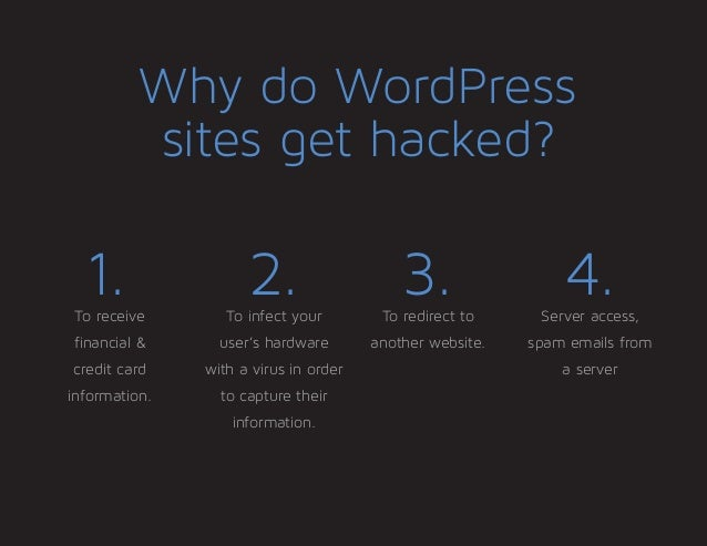 Don't let your WordPress site get hacked