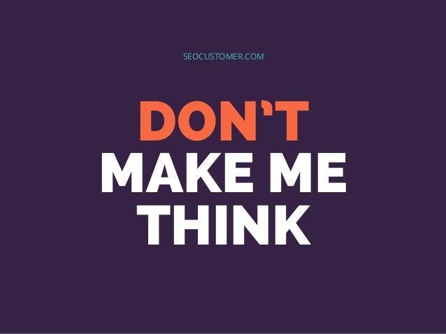 DON'T MAKE ME THINK SEOCUSTOMER.COM