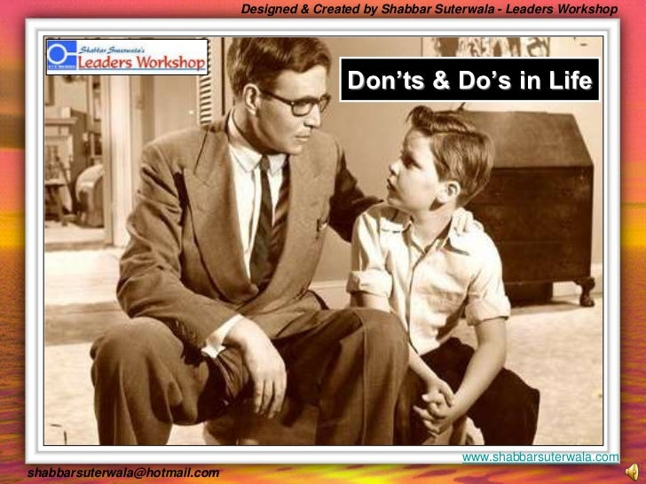Don'ts & Do's in Life<br />