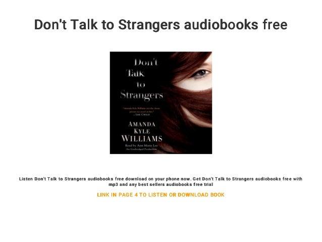 Don't Talk to Strangers audiobooks free