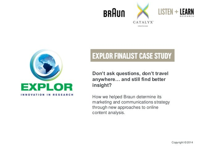 Don't ask questions, don't travel anywhere… and still find better insight?  How we helped Braun determine its marketing an...